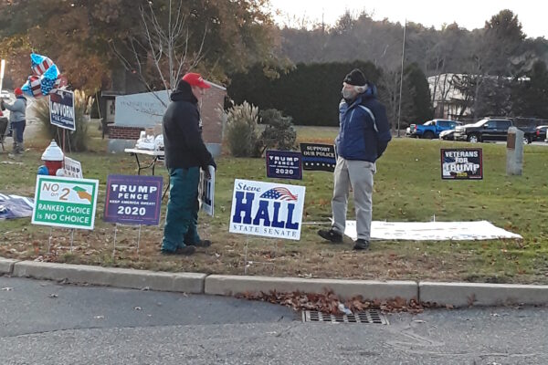 Conversation with a Trump Supporter on Election Day. Jack (left) Brayton (right)
